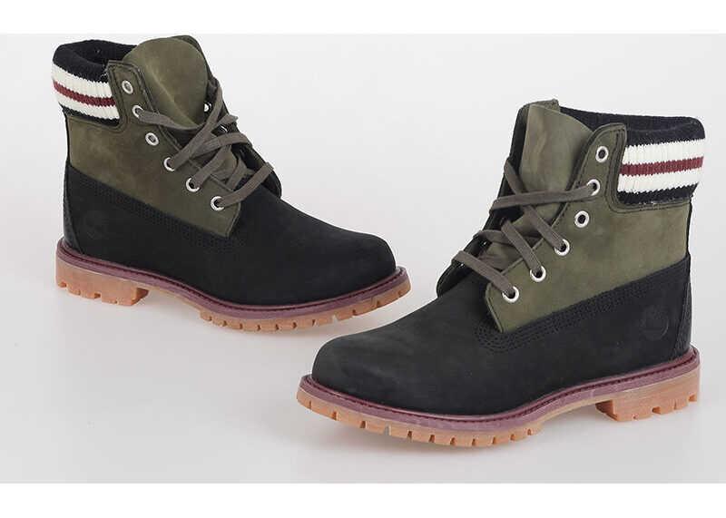Timberland MARNI Leather Combat Boots MULTICOLOR imagine b-mall.ro