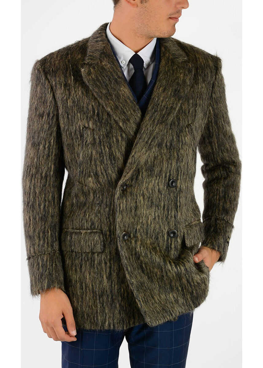 CORNELIANI Double Breasted Coat GREEN