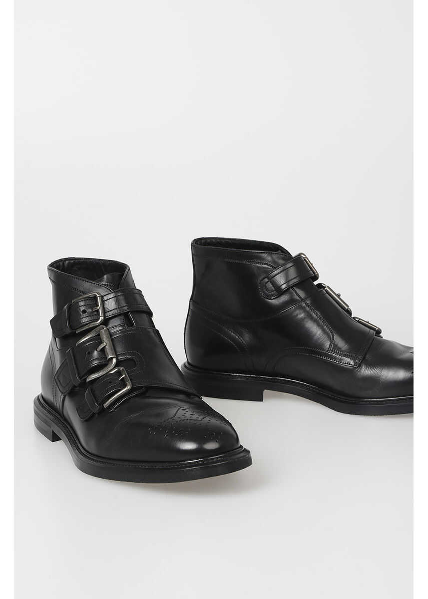 Dolce & Gabbana Leather MICHELANGELO Ankle Boots N/A