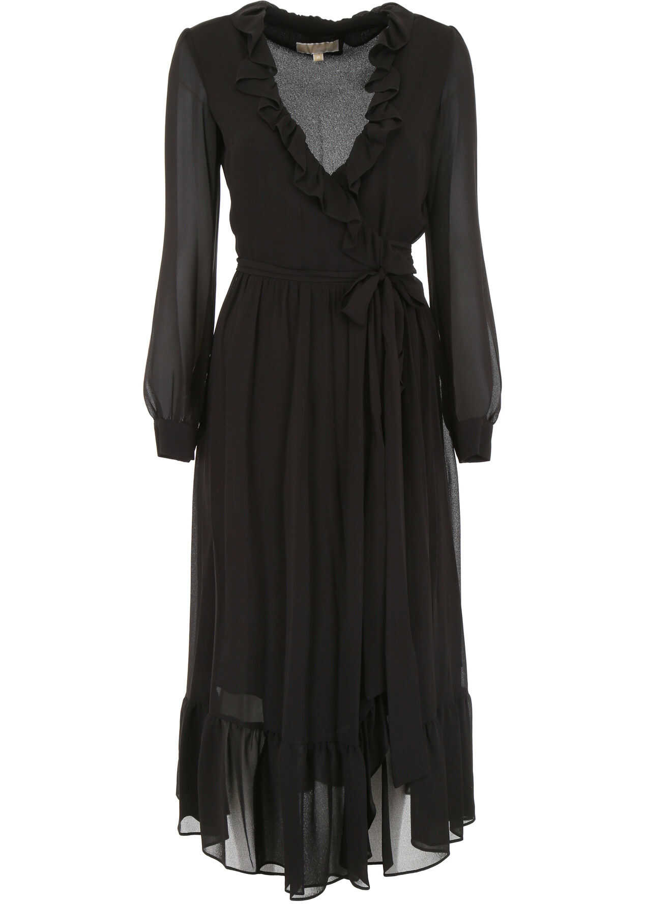 Michael Kors Wrap Dress BLACK
