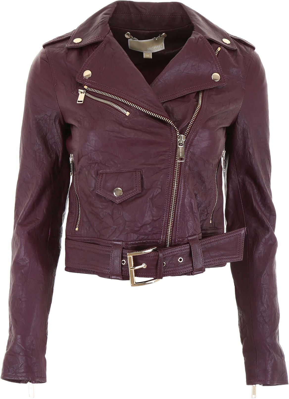 Michael Kors Biker Jacket CORDOVAN