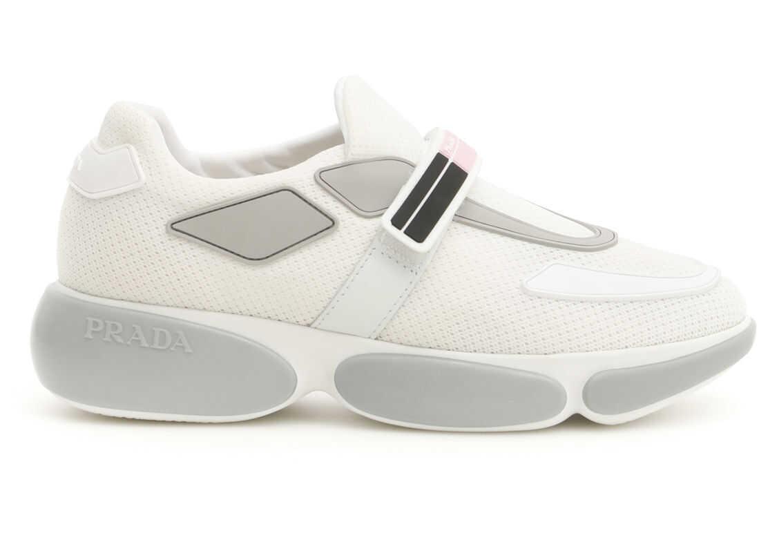 Prada Cloudbust Sneakers BIANCO ARGENTO