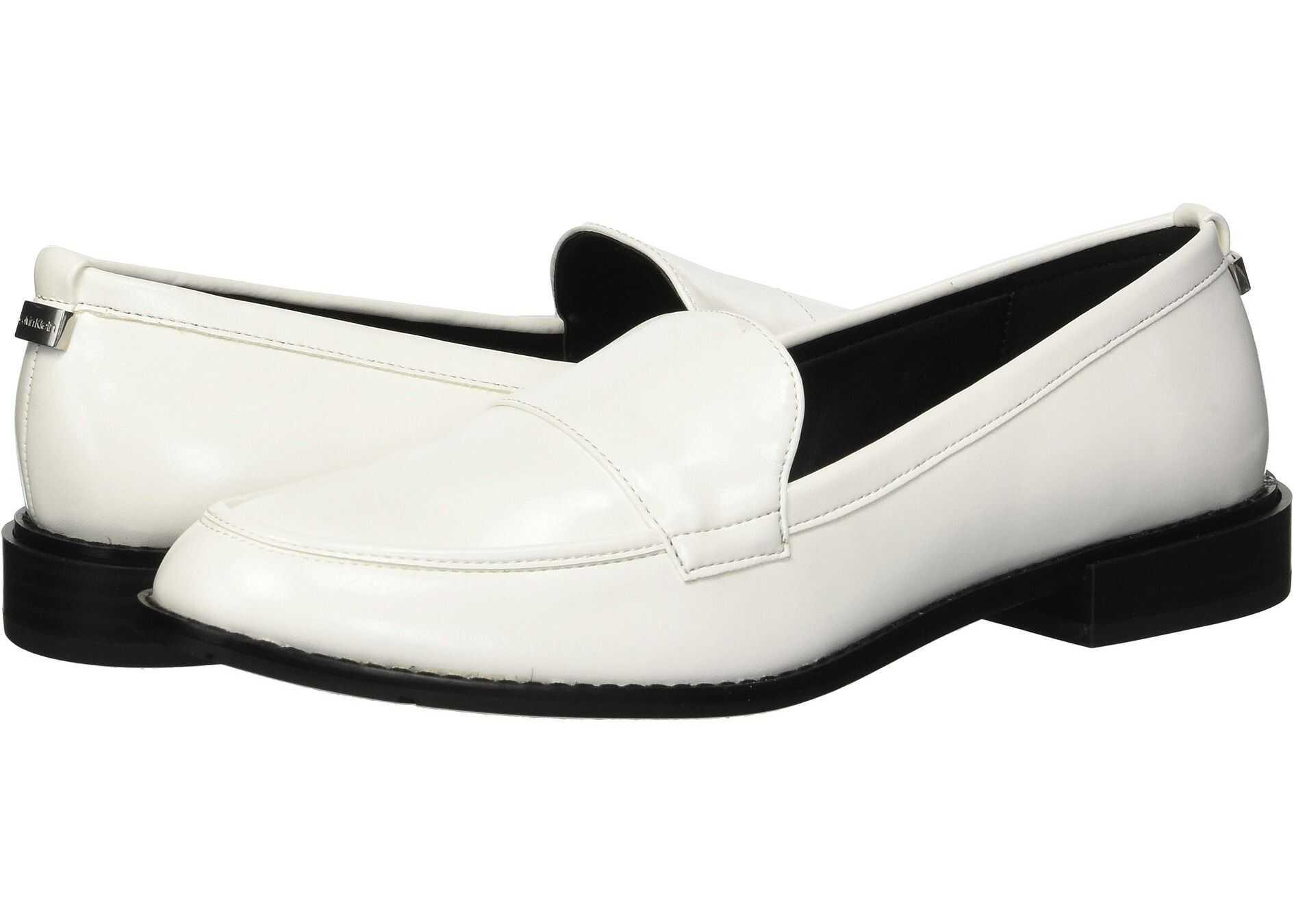 Calvin Klein Amaya Platinum White Varnished Crackled
