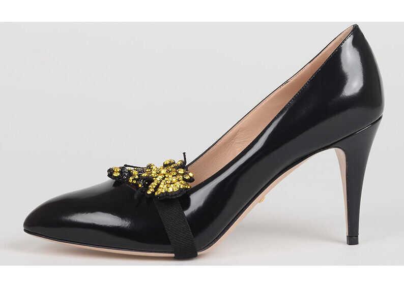 cele mai noi cauta magazin de reduceri Pantofi stiletto Gucci 9cm Leather Decolletes BLACK Femei ...