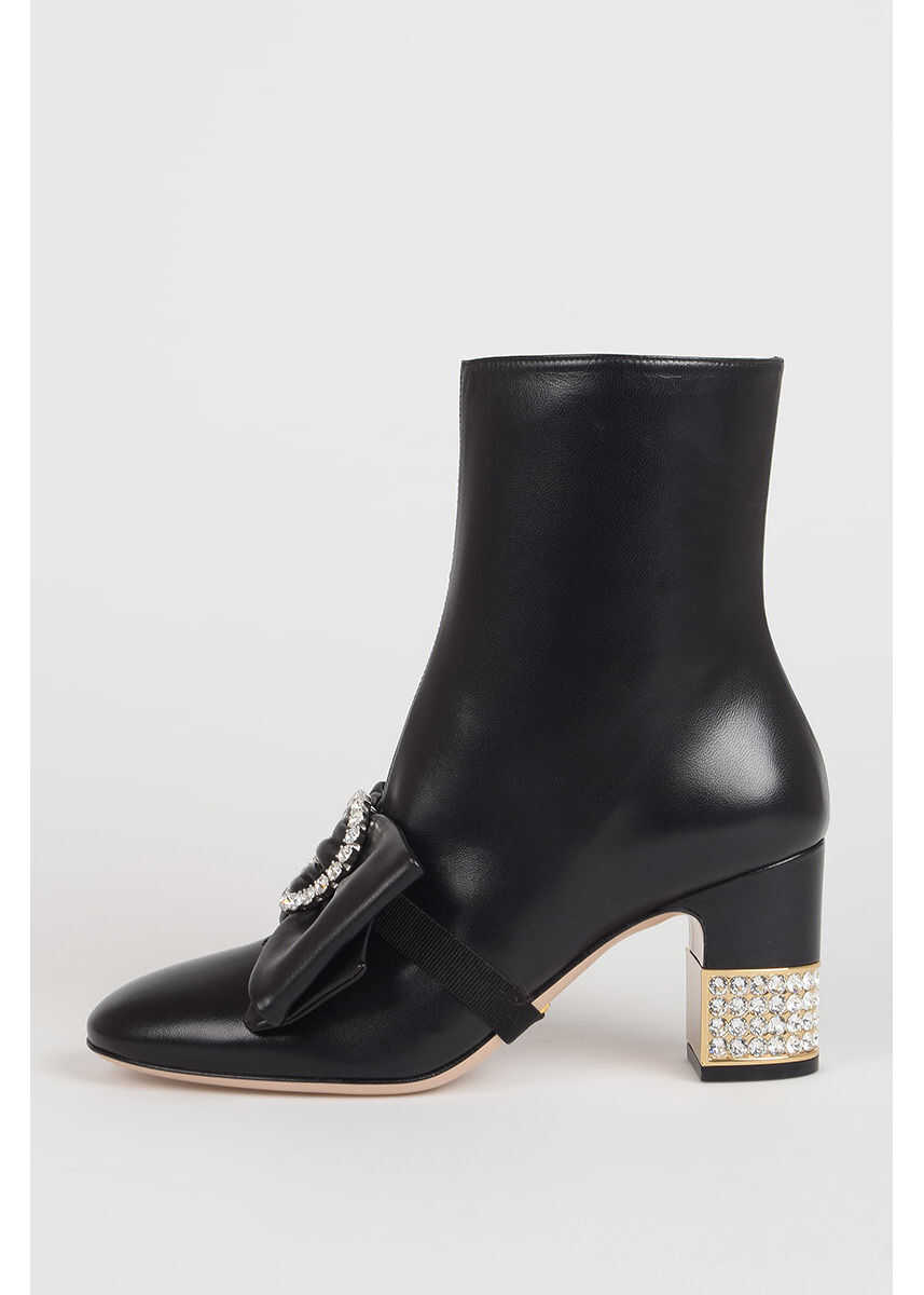 Gucci 4 cm CHARLOTTE Strass Heel Boots N/A
