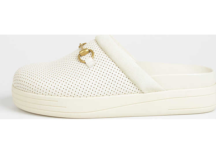 Gucci Leather Slipper WHITE