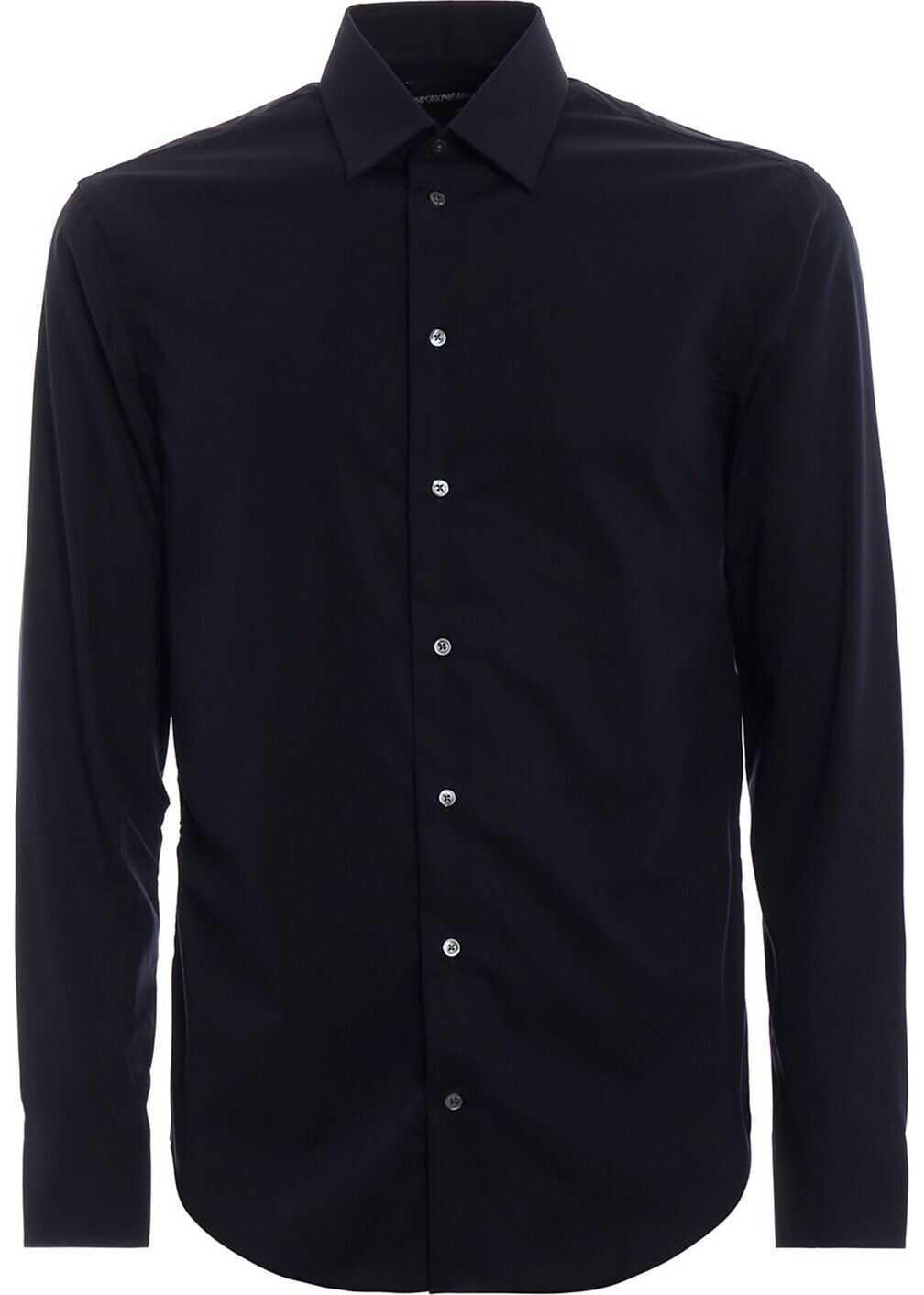Emporio Armani Cotton Shirt BLUE