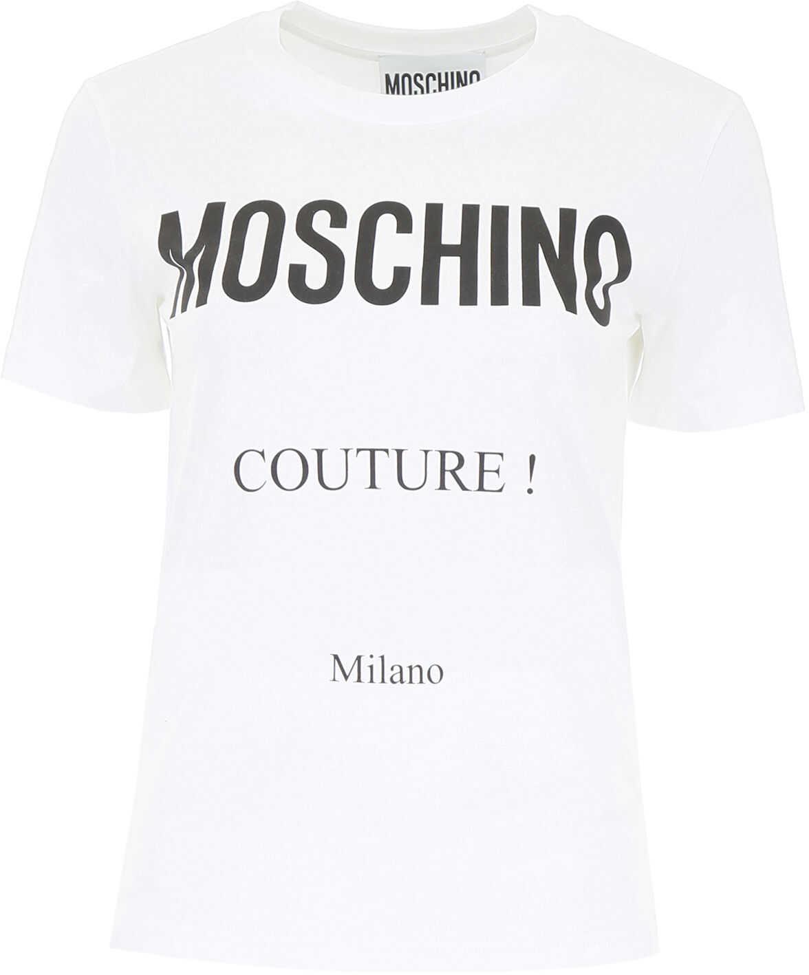 Moschino Logo Print T-Shirt FANTASY PRINT WHITE