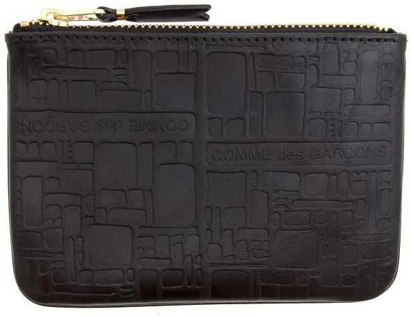 Comme des Garçons Textured Leather Bag Black
