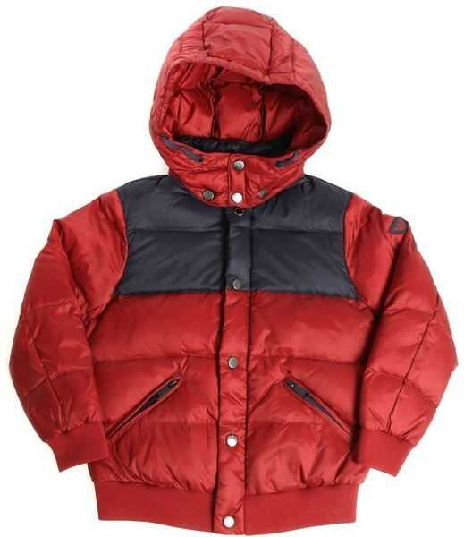 Geci Baieti Emporio Armani Burgundy And Blue Quilted Dow Jacket*