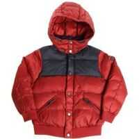 Geci de Puf Burgundy And Blue Quilted Dow Jacket* Baieti