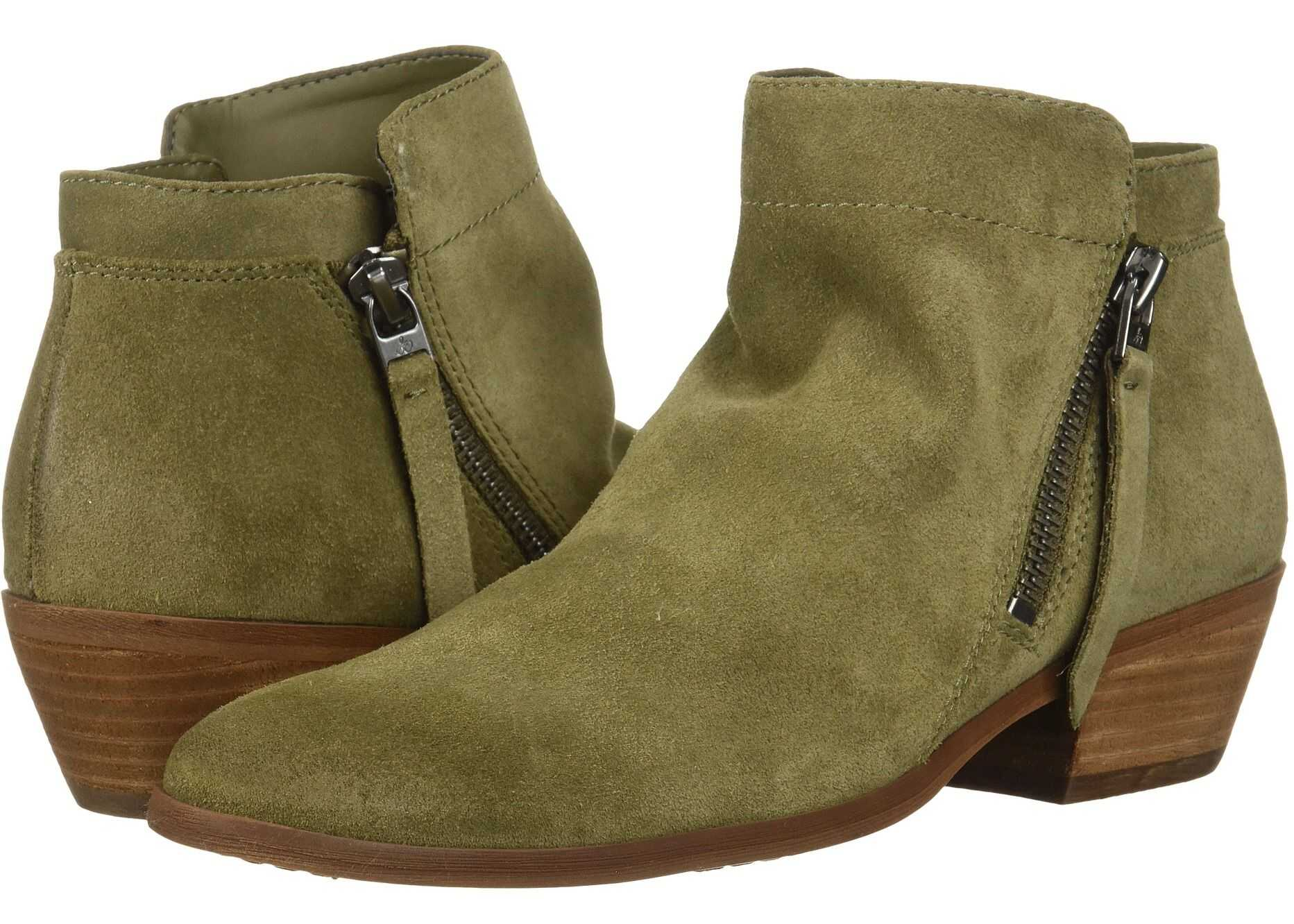 Sam Edelman Packer Moss Green Velutto Suede Leather