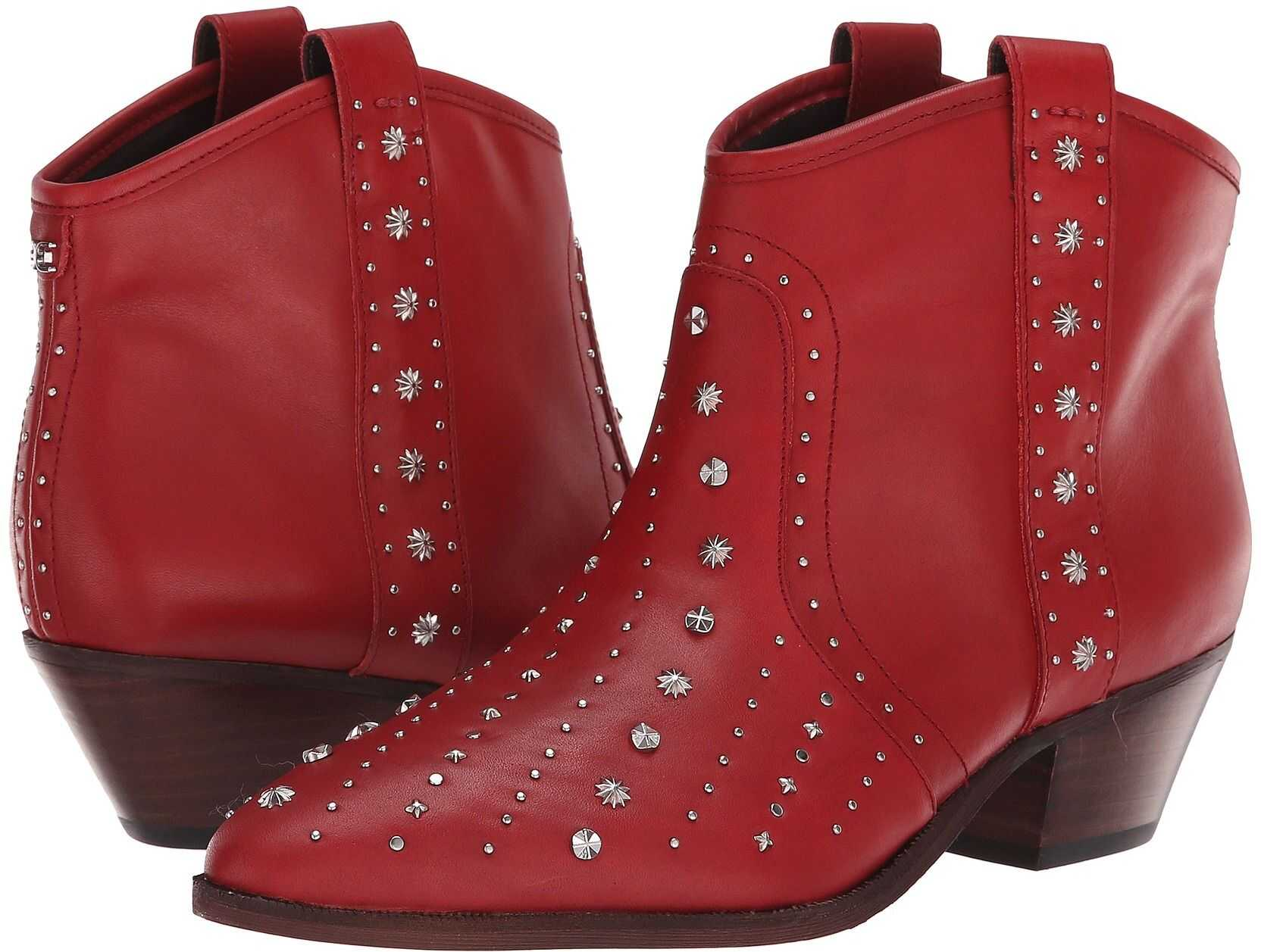 Sam Edelman Brian Deep Red Sequins Bally Leather