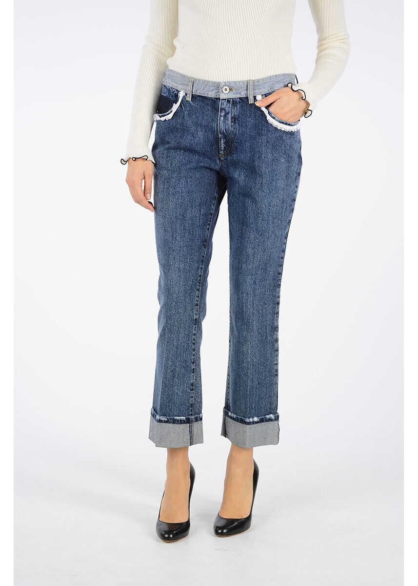 Miu Miu 20cm Denim Jeans BLUE