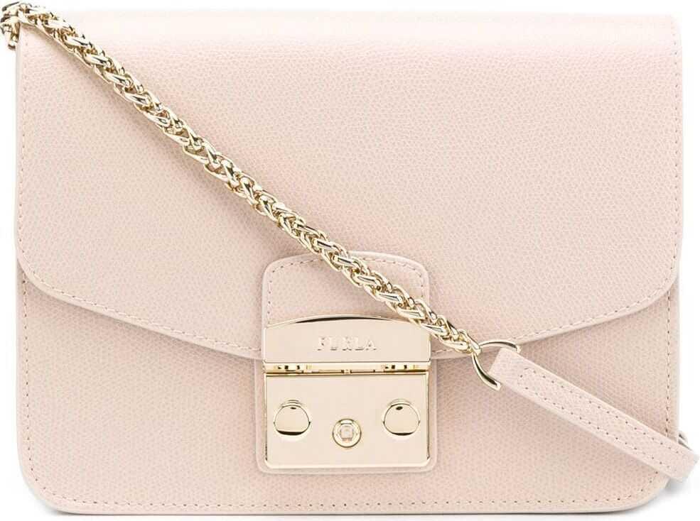 Furla 993733 Leather Shoulder Bag PINK