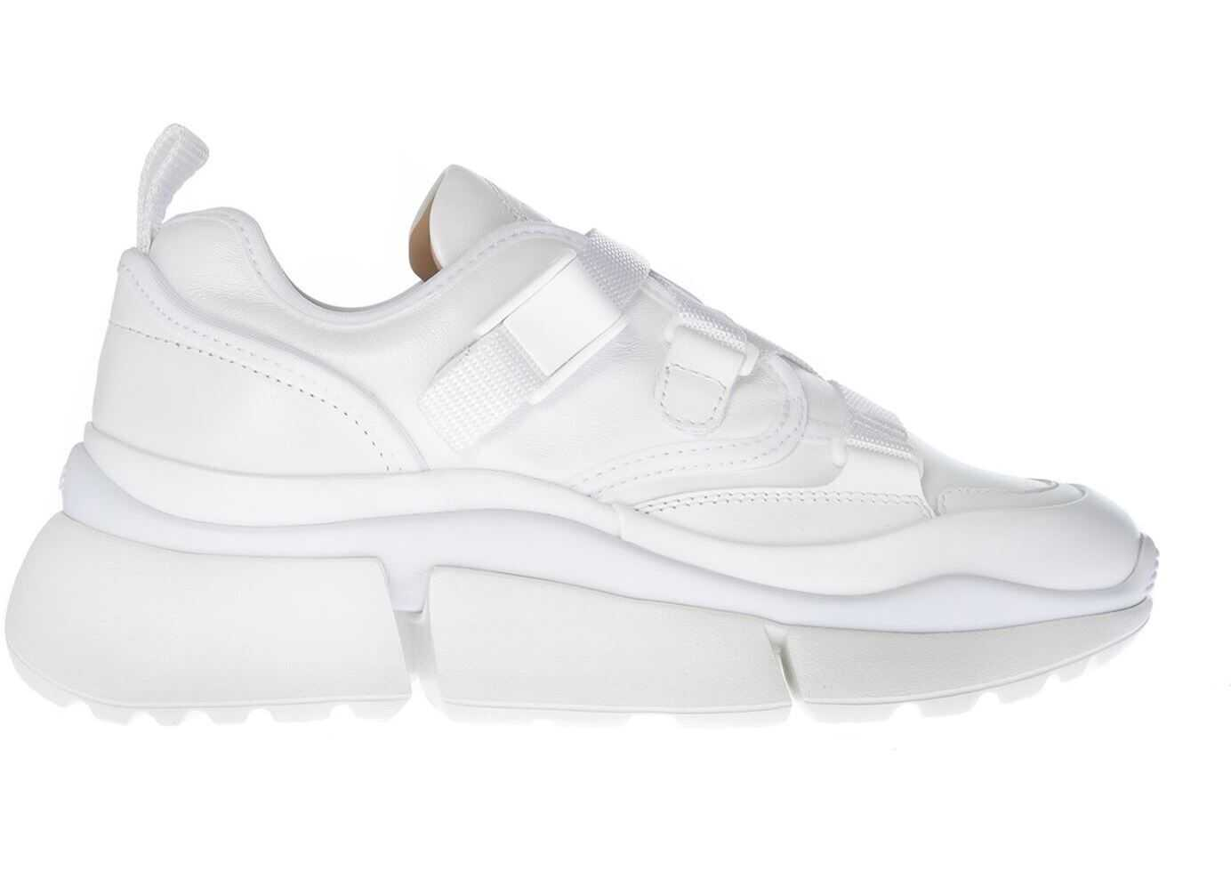 Chloe Sonnie White Nappa Leather Sneakers White