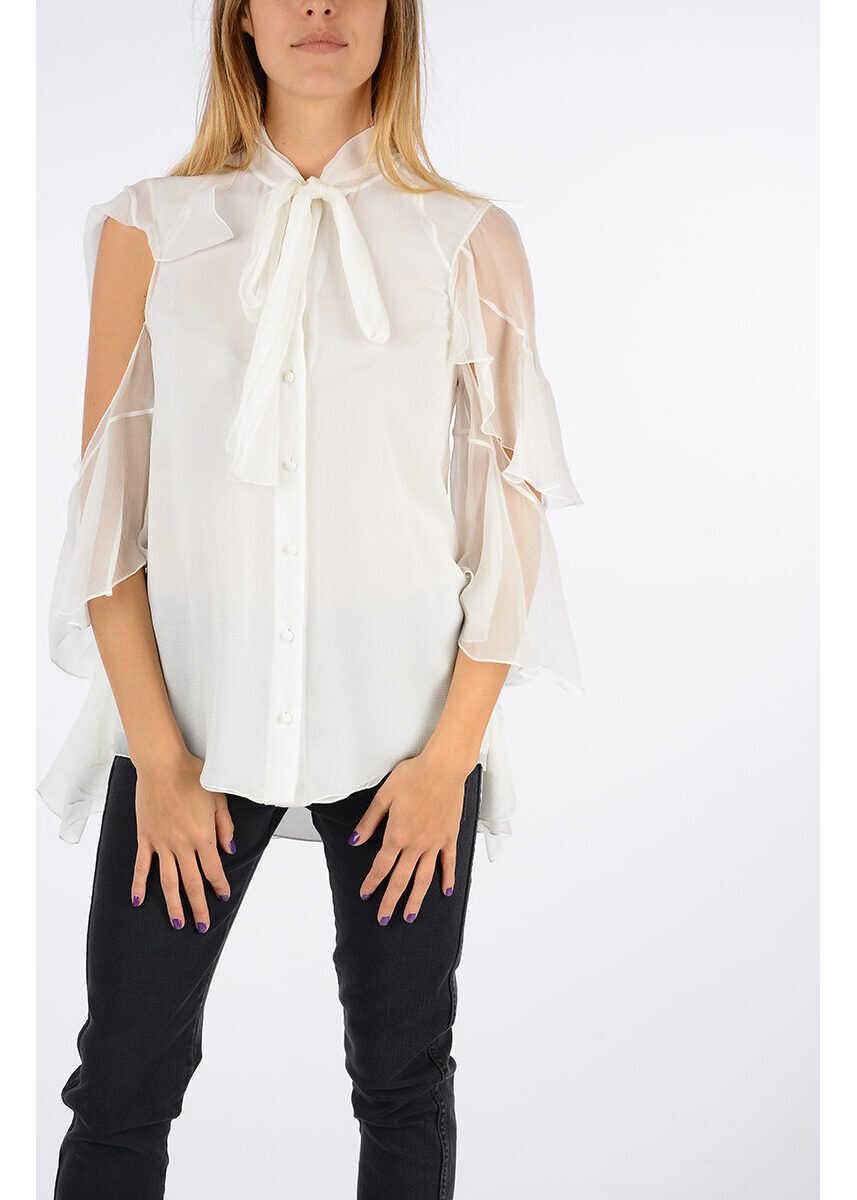 Chloe Silk Elegant Blouse WHITE