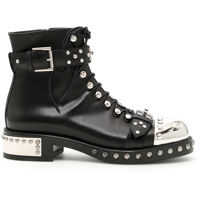 Cizme Alexander McQueen Studded Leather Booties*