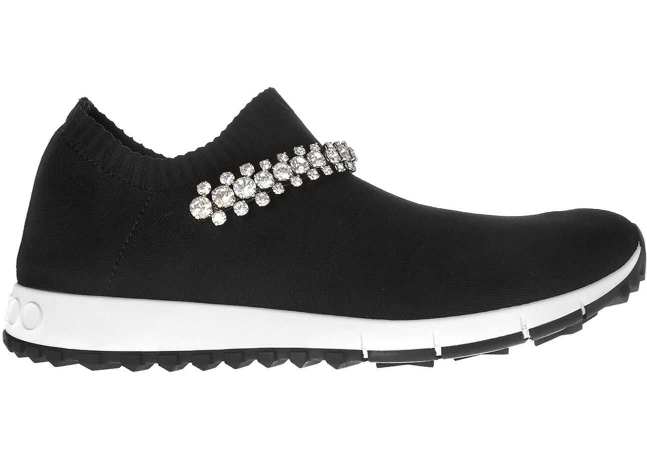 Jimmy Choo Verona Black Sneakers With Crystal Strap Black