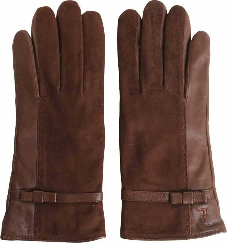 Trussardi Leather Gloves BROWN
