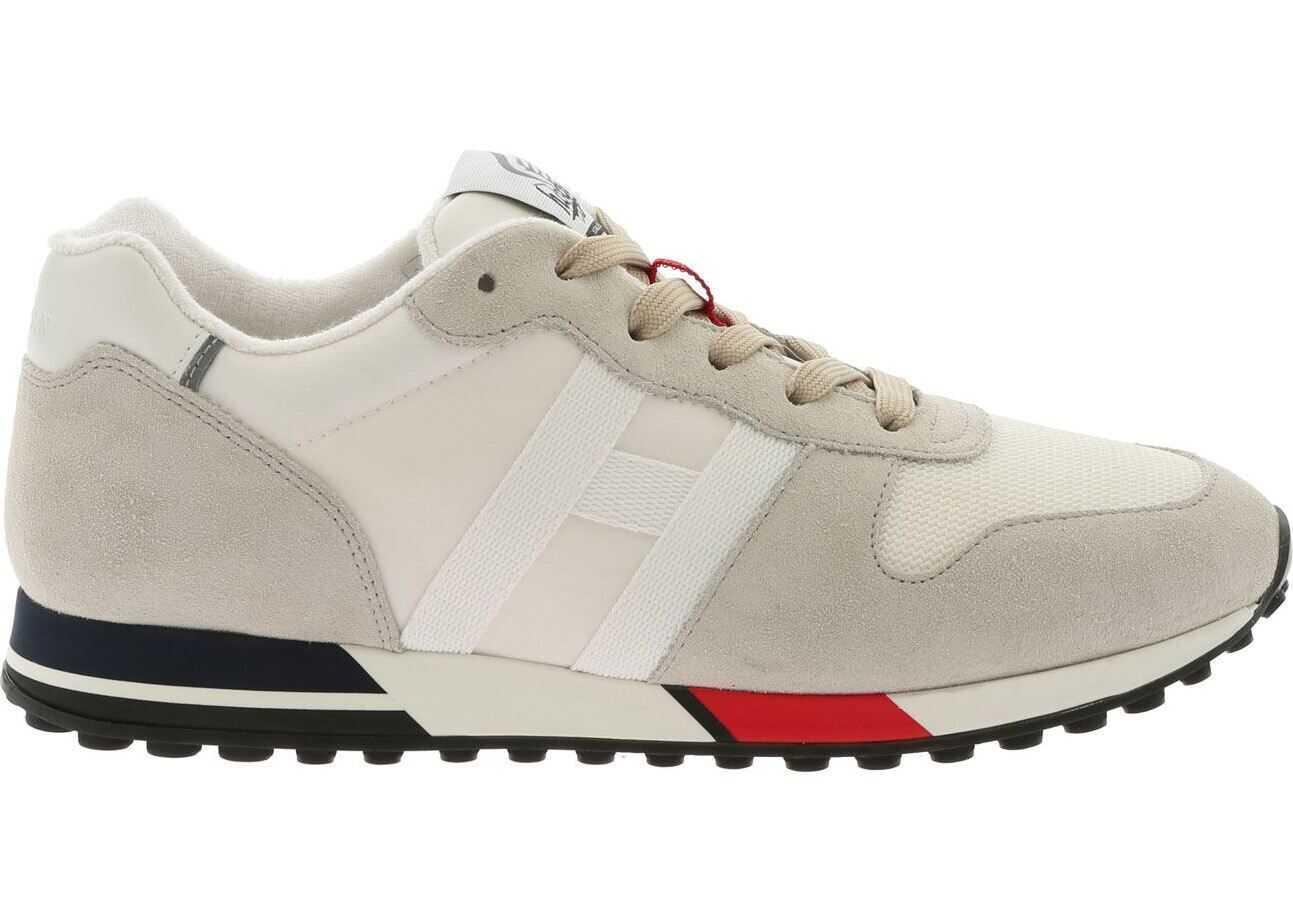 Hogan H383 White And Beige Sneakers Beige
