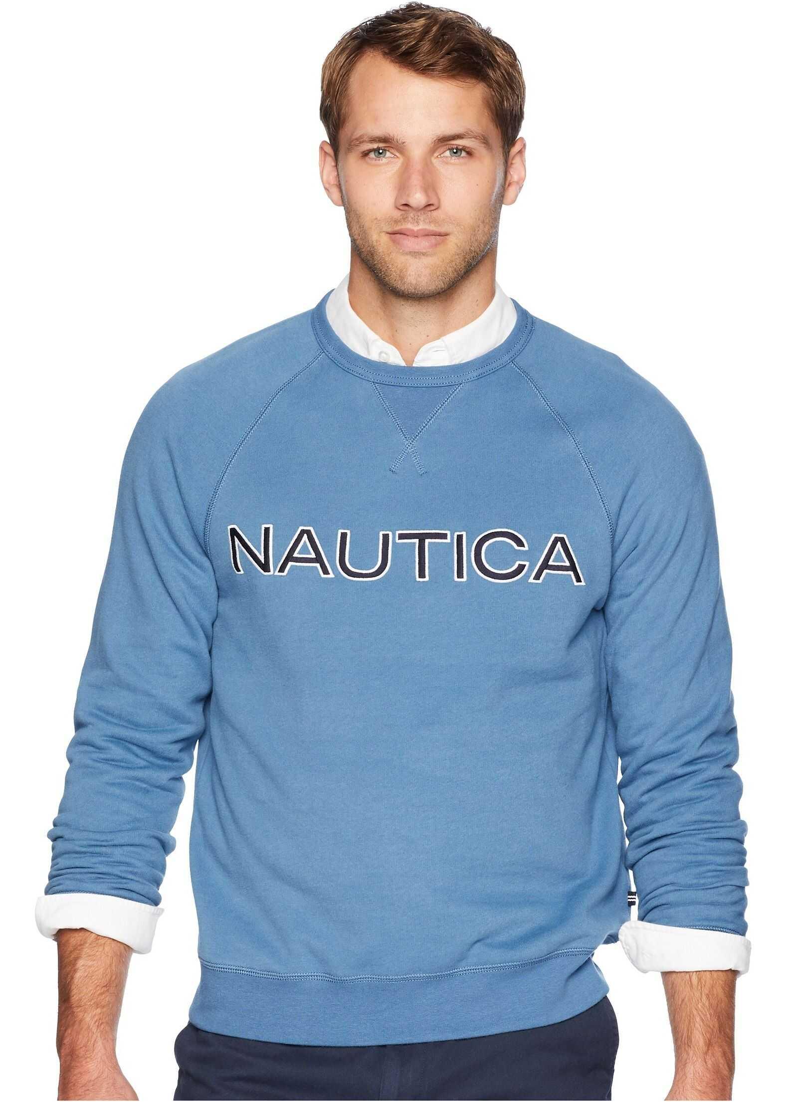 Nautica Fleece Graphic Crew Blue Stern