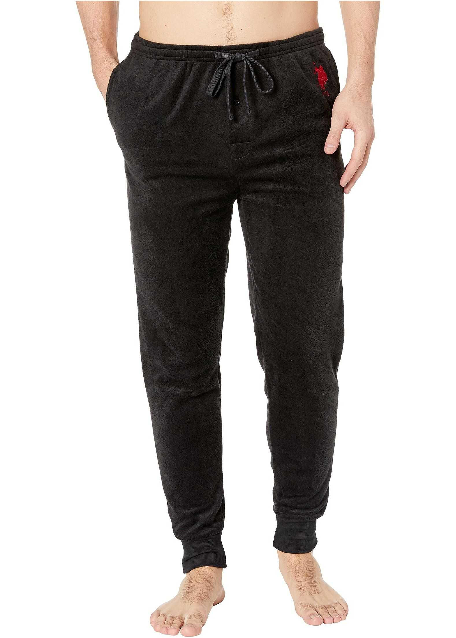 U.S. POLO ASSN. Silky Fleece Jogger Black