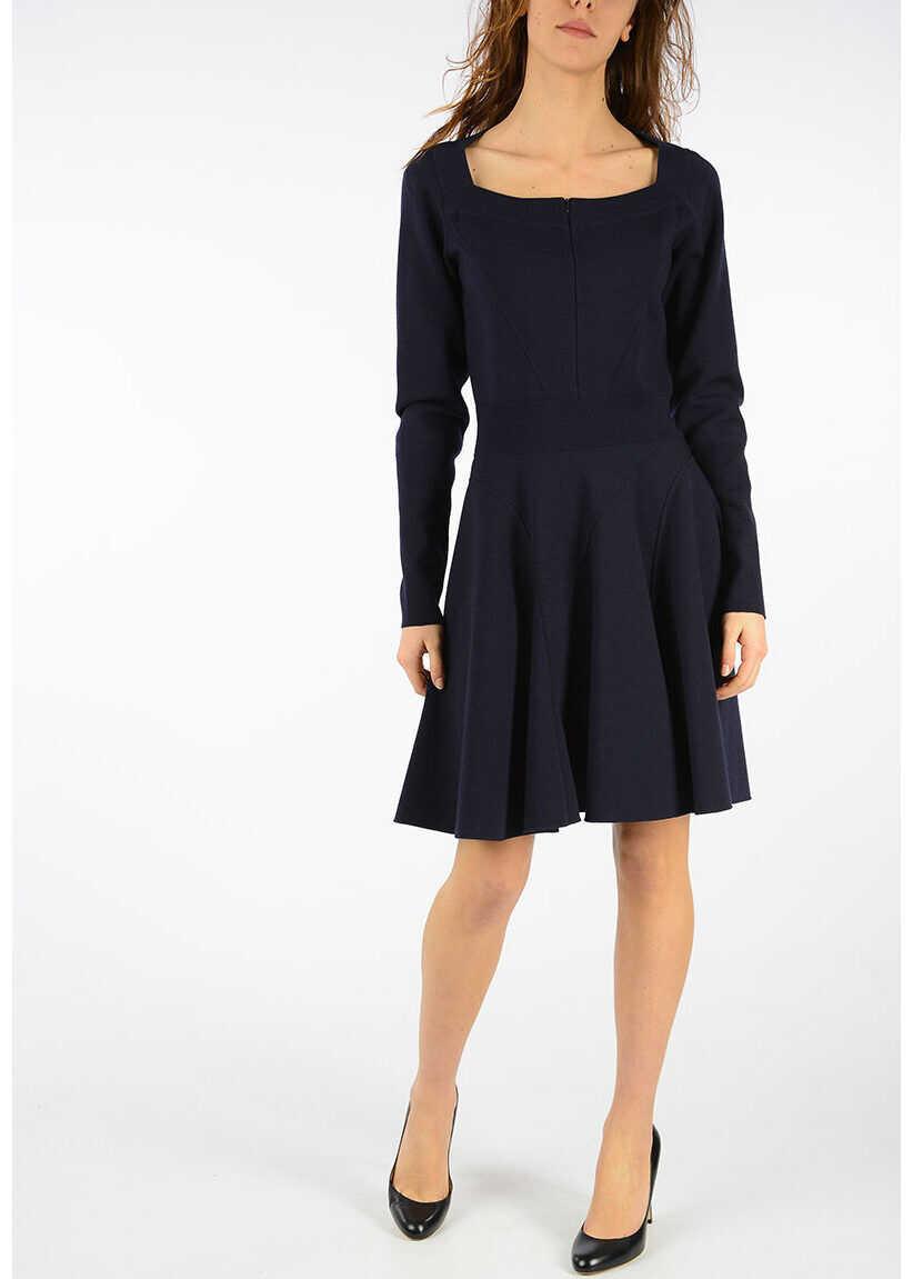 Alaïa Dress with Frill BLUE
