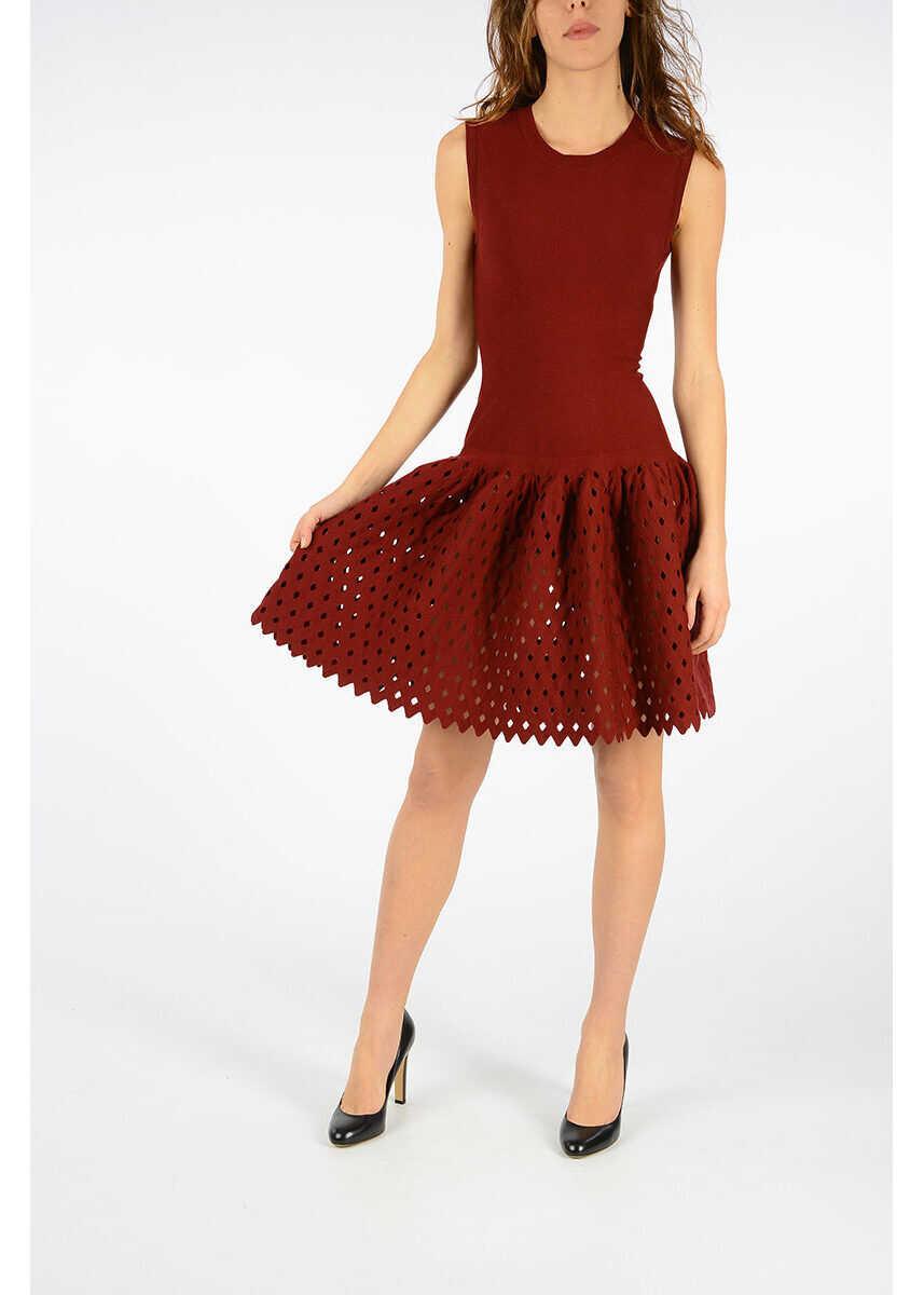Alaïa Wool Blend Dress RED
