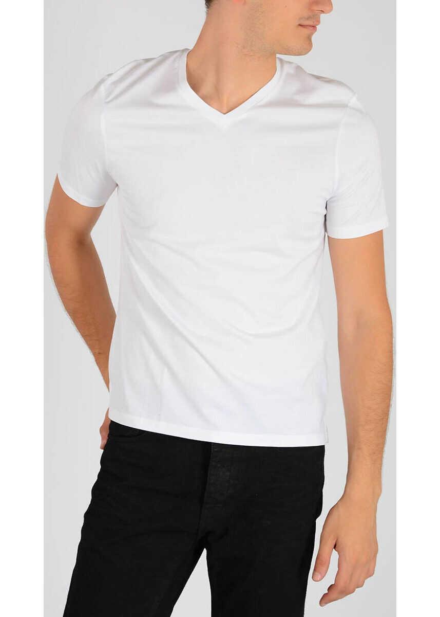 Neil Barrett V-Neck T-shirt WHITE