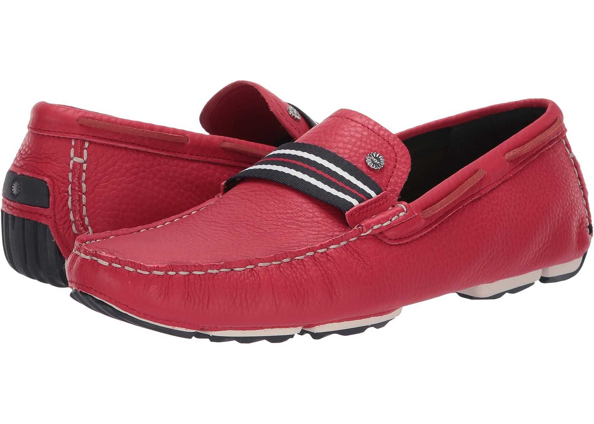 UGG Bel-Air Woven Stripe Slip-On Samba Red