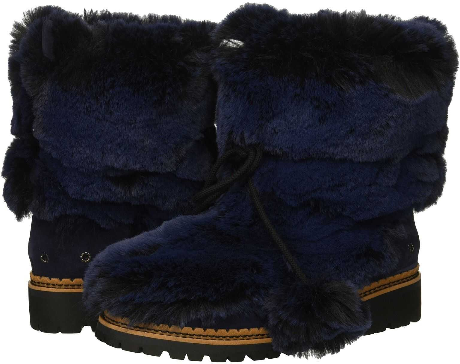 Sam Edelman Blanche Blatic Navy Opulent Fur/Velutto Suede Leather