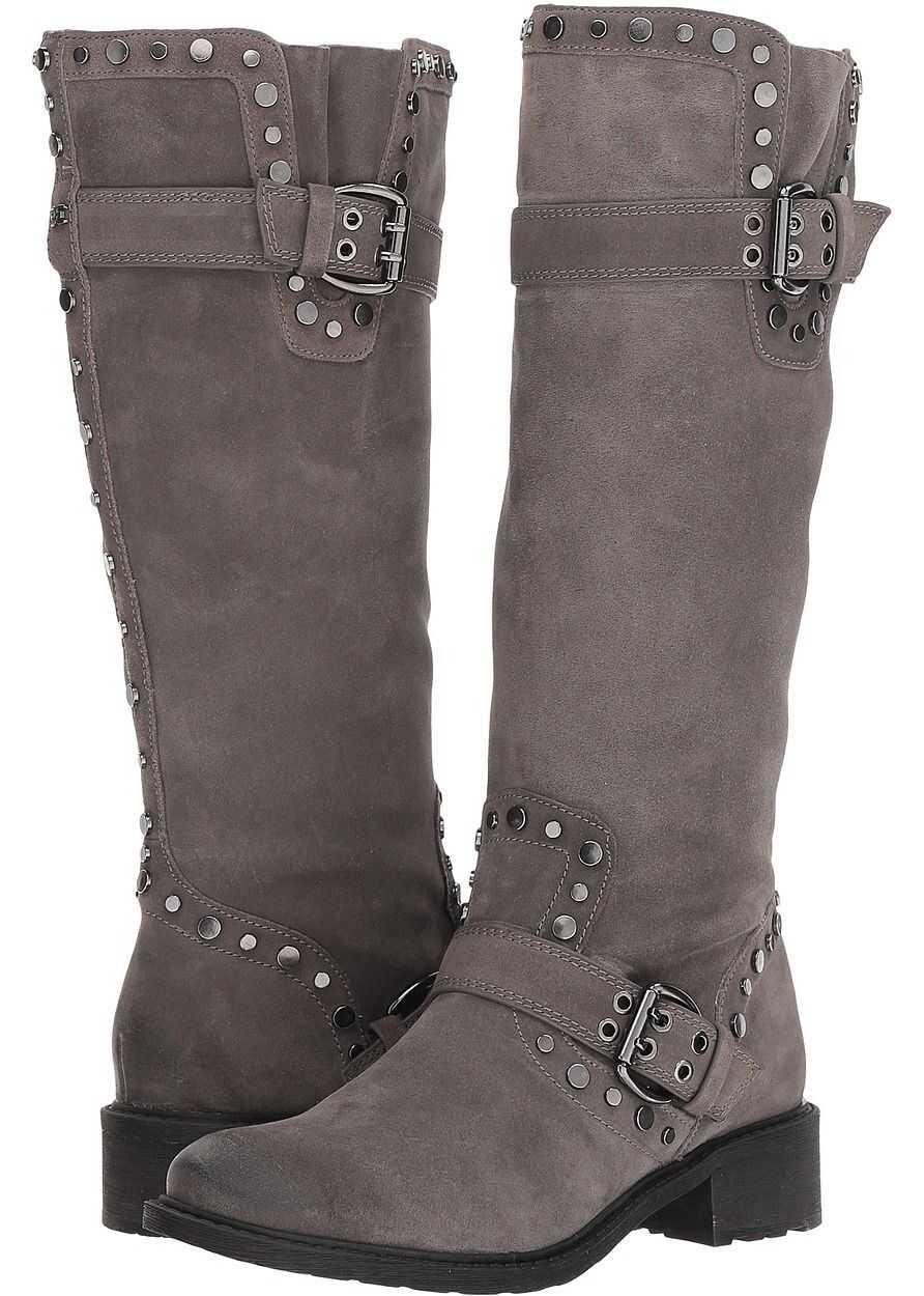 Sam Edelman Deryn Steel Grey Velutto Suede Leather