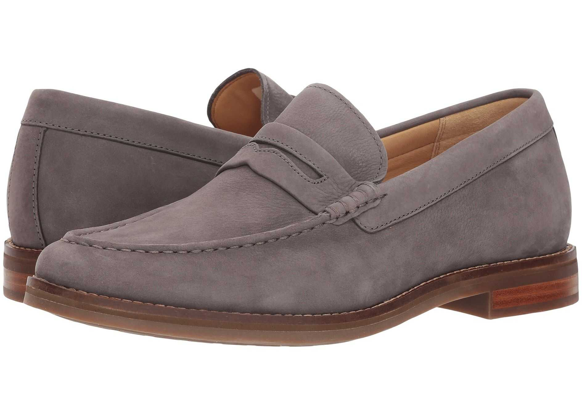 Sperry Top-Sider Gold Exeter Penny Loafer Grey Nubuck