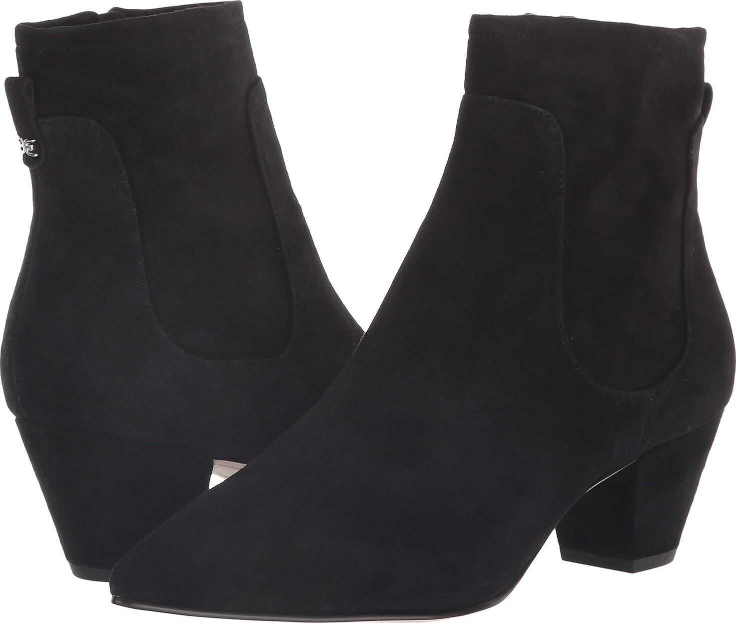Sam Edelman Karlee Black Kid Suede Leather