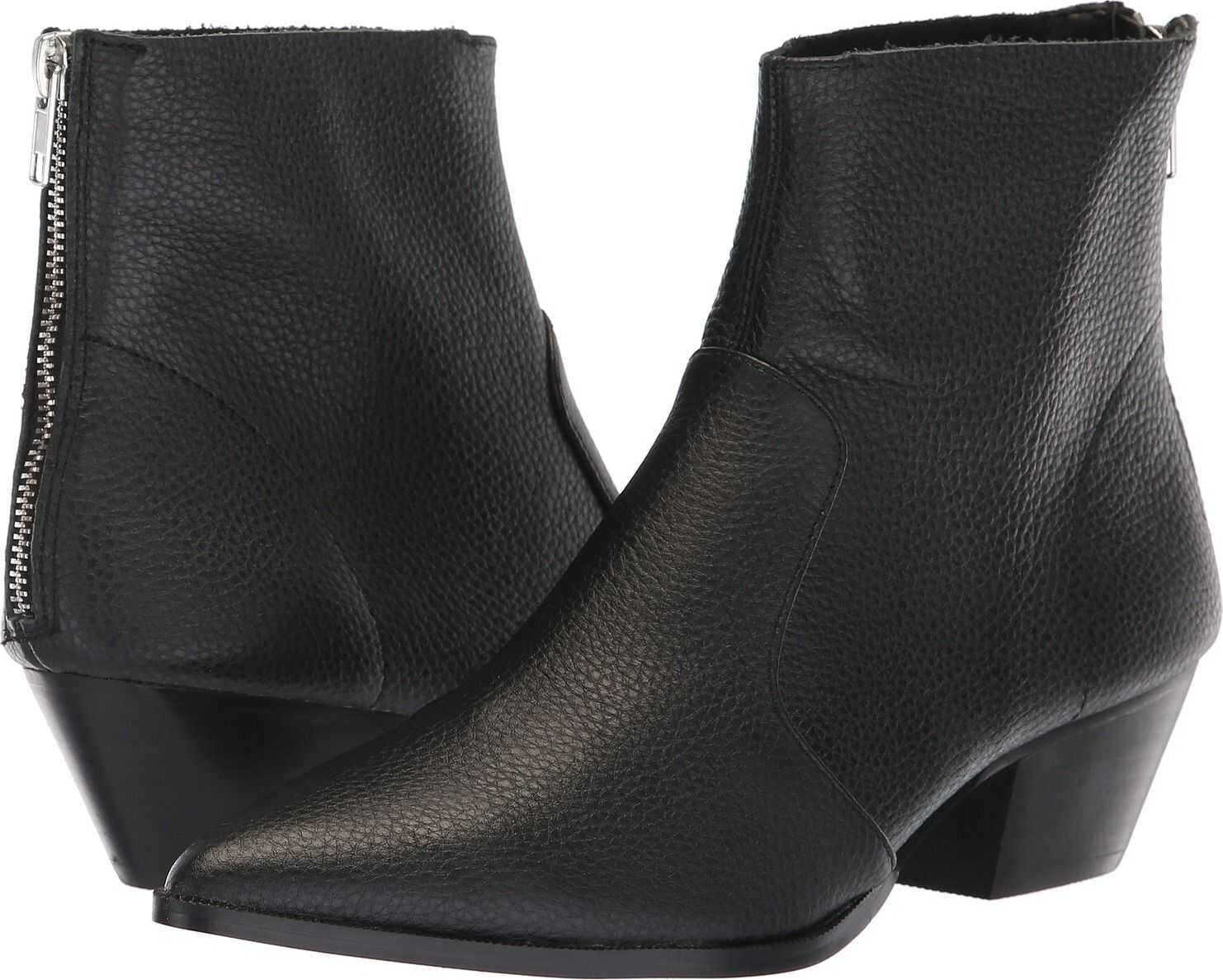 Steve Madden Café Bootie Black Leather