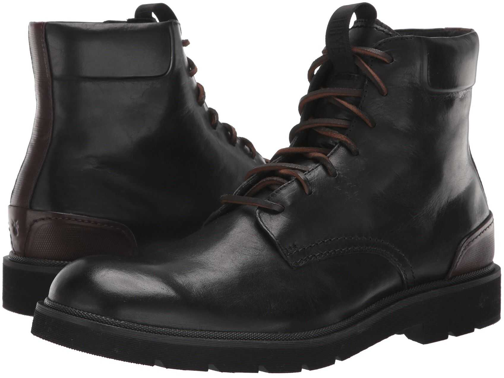 Frye Terra Lace-Up Black Smooth Full Grain