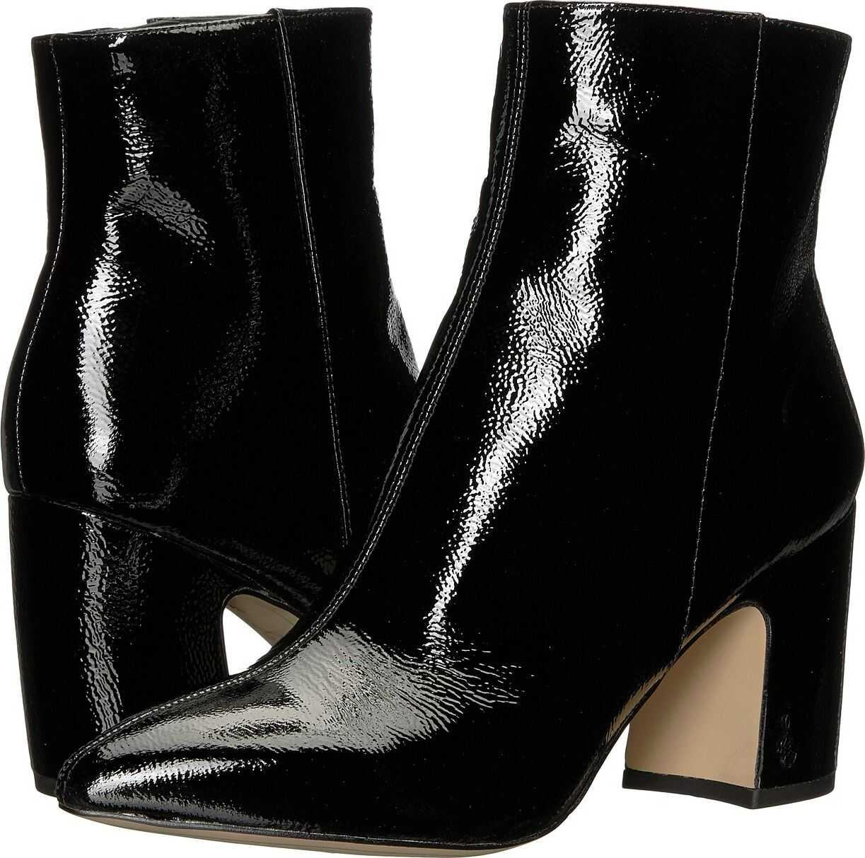 Sam Edelman Hilty 2 Black Goat Crinkle Patent Leather