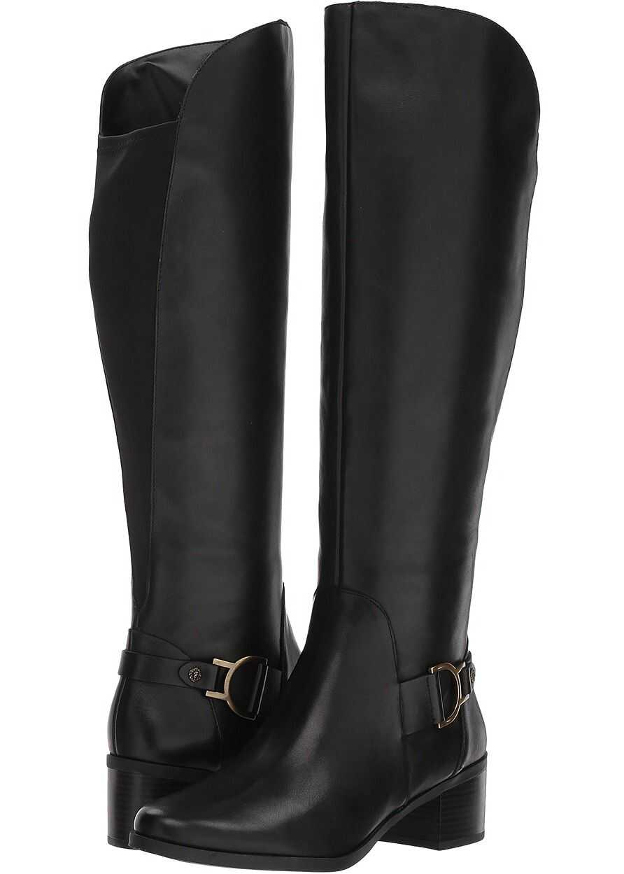 Anne Klein Jamee Riding Boot Black Leather