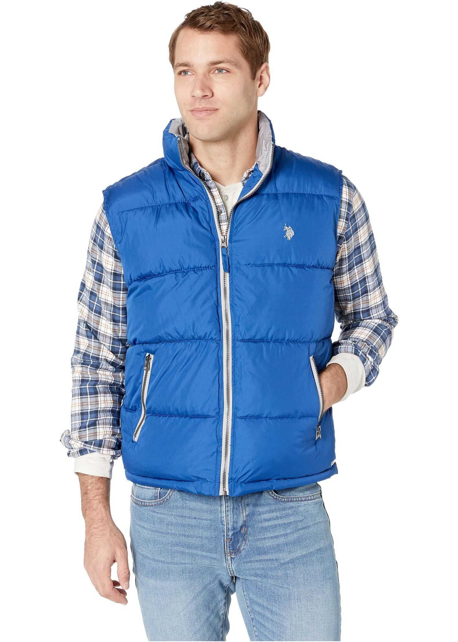 U.S. POLO ASSN. Performance Vest Blue/White