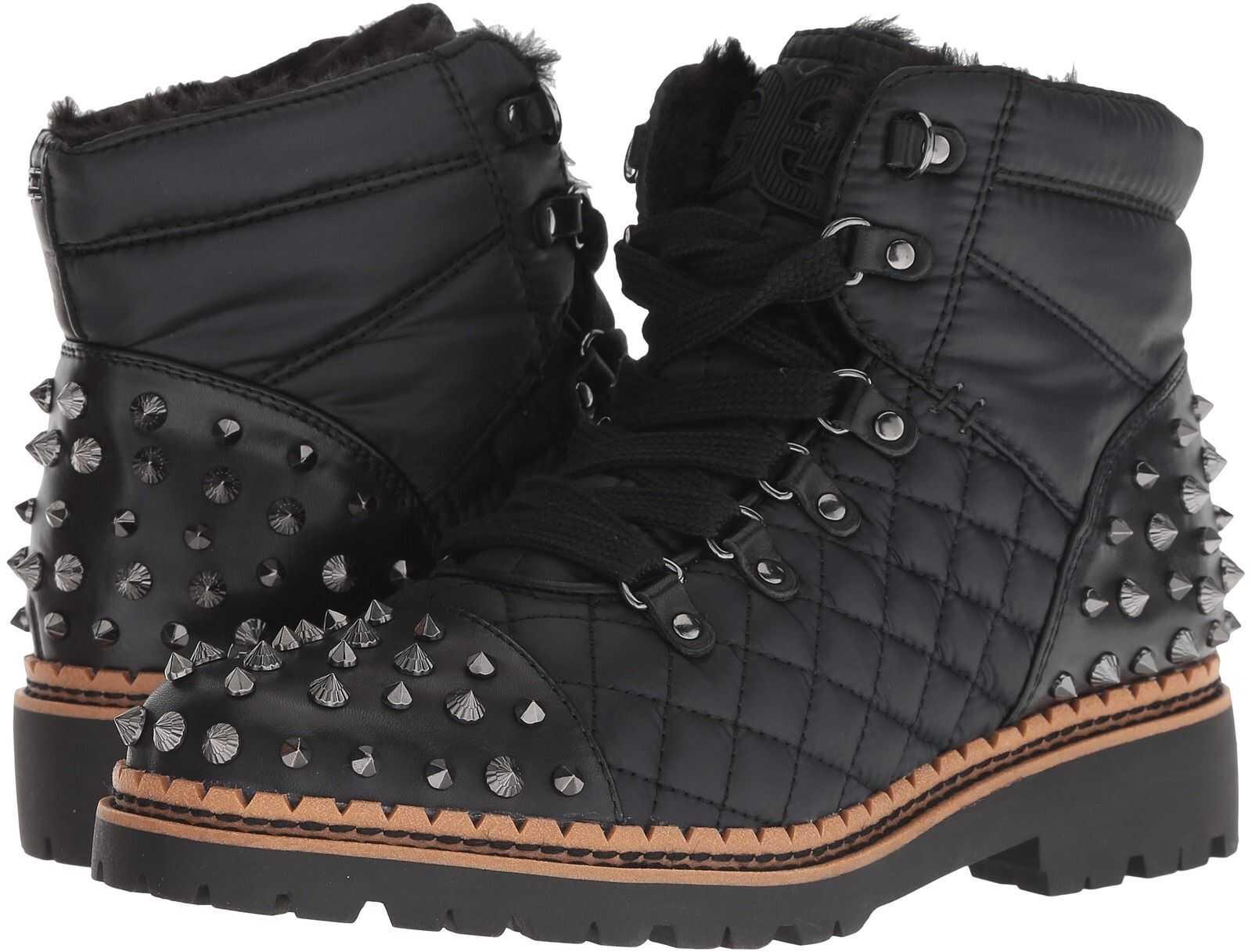 Sam Edelman Bren Black Leather High Shine Nylon/Modena Calf Leather