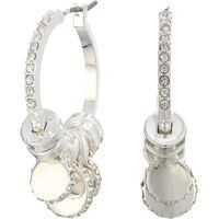 Cercei Micropave Charm Hoop Earrings Femei