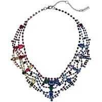 Coliere Rainbow Rhinestone Geo Casted Bib Necklace Femei