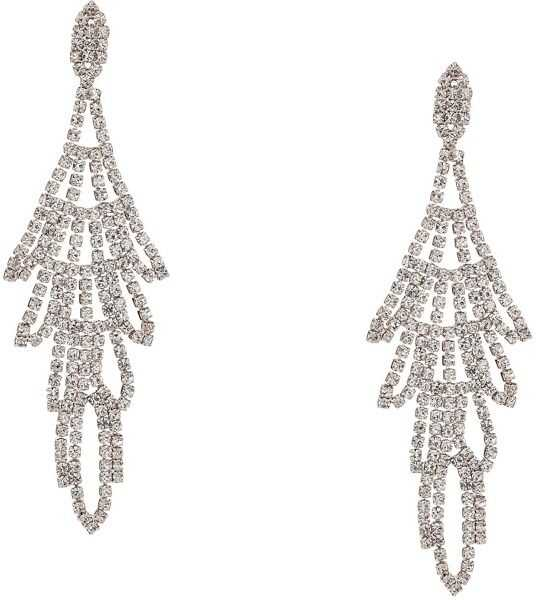 Cercei Dama GUESS Rhinestone Chandelier Drop Earrings Crystal