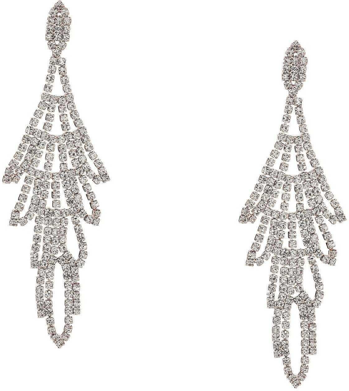 GUESS Rhinestone Chandelier Drop Earrings Crystal Rose Gold