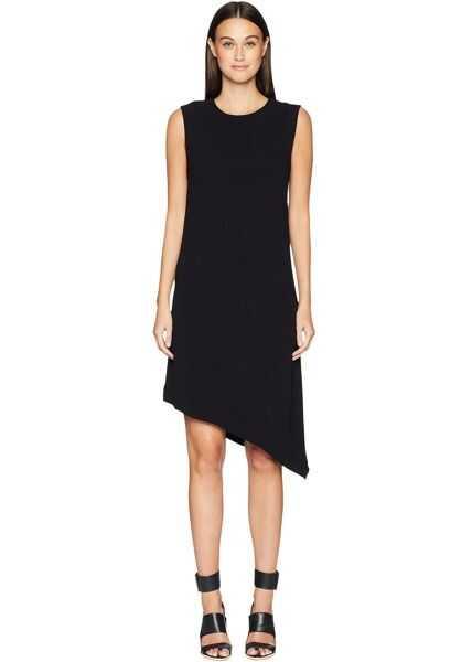 Rochii Dama Nicole Miller Crinkle Satin Back Crepe Asymmetrical Sheath Dress