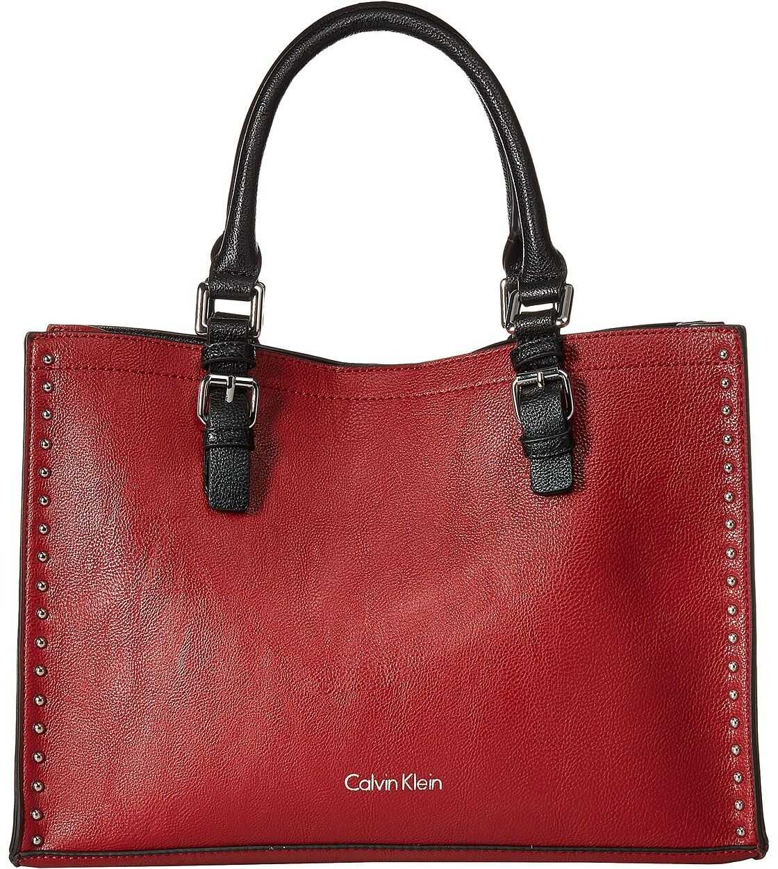 Calvin Klein Unlined Novelty Casual Tote Red/Black