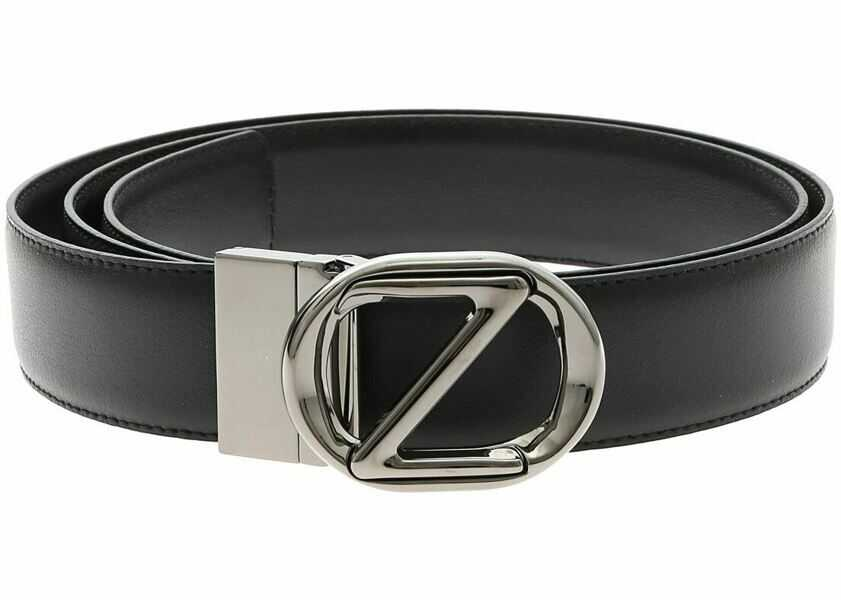 Curele Barbati Z Zegna Blue Reversible Belt With Logo