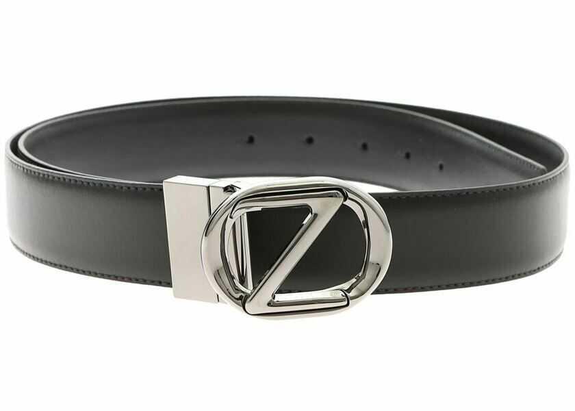 Curele Barbati Z Zegna Reversible Black Belt With Z Logo