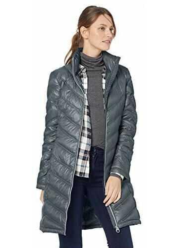 Calvin Klein Women's Chevron-Quilted Packable Down Coat Shale